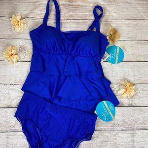 Swim Solutions 2 piece Blue Bikini Set